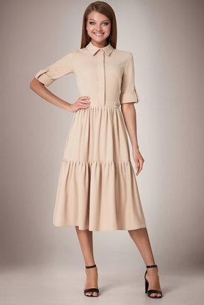 Платье Andrea Fashion AF-31 беж