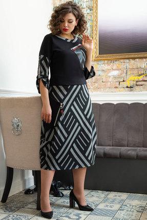 Платье Avanti Erika 938-3 черный с серым