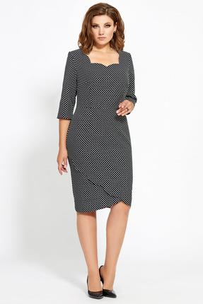 Платье Мублиз 465 черный в горох