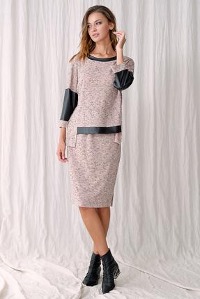 Комплект юбочный Фантазия Мод 3633 розовые тона фото
