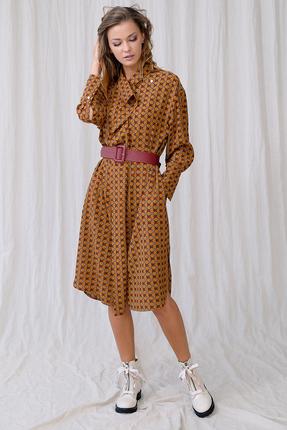 Платье Фантазия Мод 3677 оранжевые тона