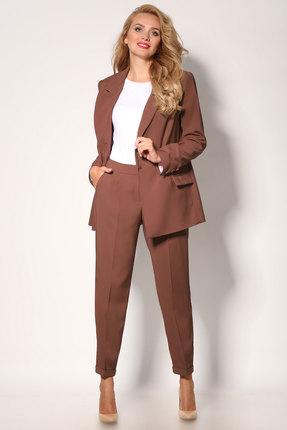 Комплект брючный Angelina & Co 416 коричневый