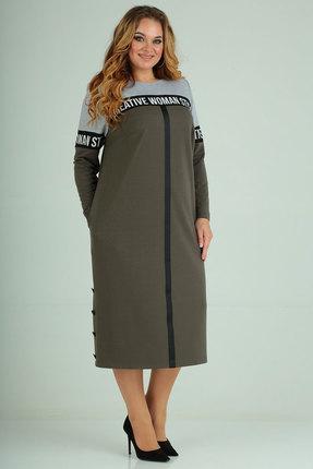 Спортивное платье Ксения Стиль 1792 хаки