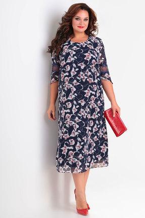Платье Algranda 3591 синие тона