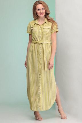 Платье Angelina & Co 351 желто-зеленые тона