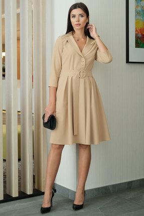 Платье Ladis Line 1264 бежевые тона