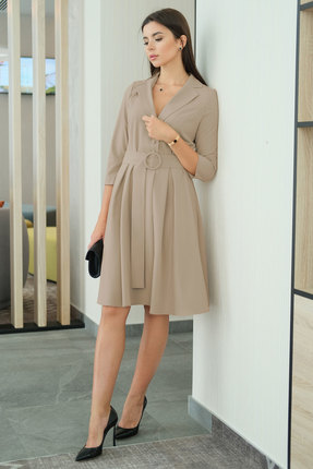 Платье Ladis Line 1264 темно-бежевый