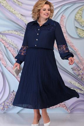 Платье Ninele 5791 тёмно-синий