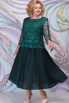 Платье Ninele 5792 изумруд