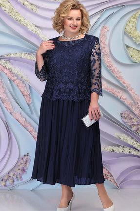 Платье Ninele 5792 тёмно-синий