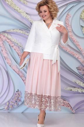 Комплект юбочный Ninele 5794 пудра+белый