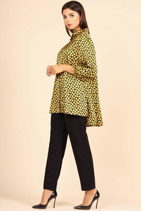 Блузка Faufilure с1115 желтый с черным