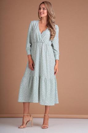 Платье Flovia 4047 голубые тона
