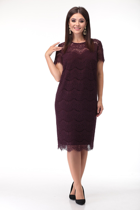 Платье Anastasia Mak 735 бордовые тона