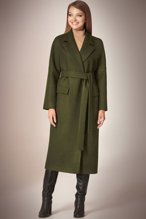 Пальто Andrea Fashion AF-58 хаки