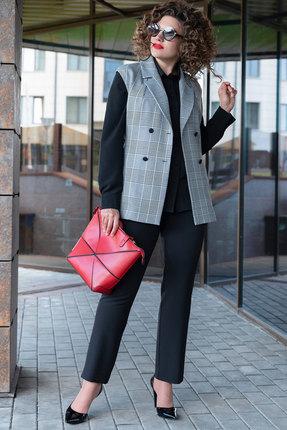 Комплект брючный Erika Style 1042 серый с черным