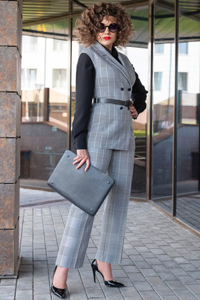 Комплект брючный Erika Style 1040 серый