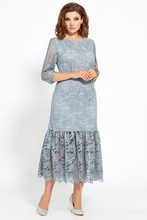 Платье Мублиз 466 светло голубой