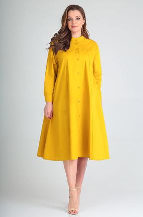 Платье Таир-Гранд 6546 горчица