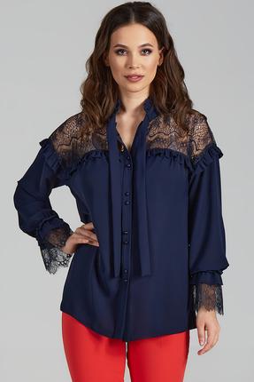 Блузка Teffi style 1473 синий