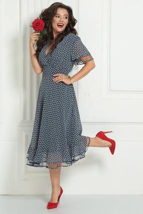 Платье Solomeya Lux 566A темно-синий