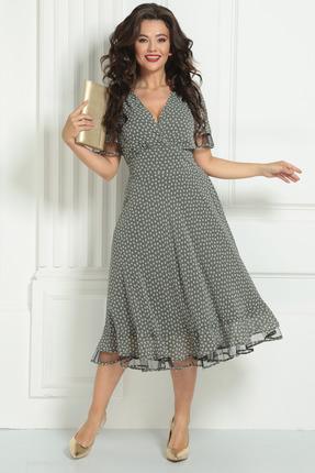 Платье Solomeya Lux 566A-1 зеленые тона