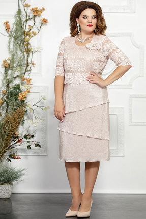 Платье Mira Fashion 4835 пудра