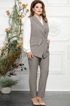 Комплект брючный Mira Fashion 4824 светло-серый