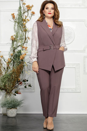 Комплект брючный Mira Fashion 4824-2 бледно-сиреневый