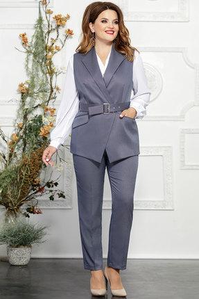 Комплект брючный Mira Fashion 4824-3 серо-голубой