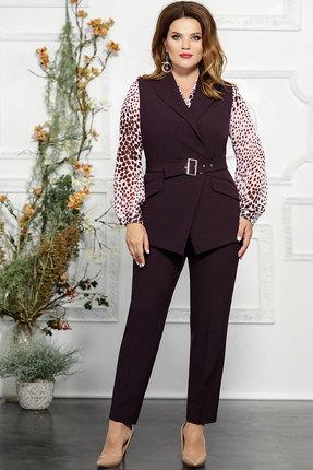Комплект брючный Mira Fashion 4824-4 тёмно-бордовый