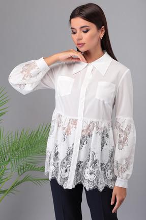 Блузка Denissa Fashion 1325 бело-молочный