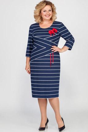 Платье Emilia Style А-412 синий
