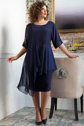 Комплект плательный Erika Style 1047 синий