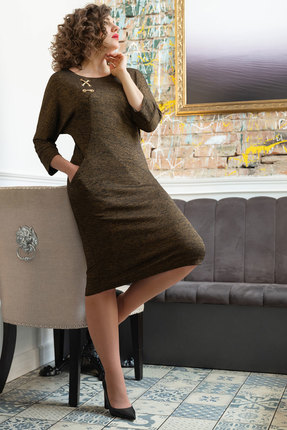 Платье Avanti Erika 886-11 темный беж