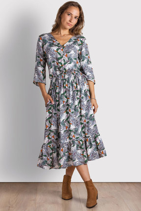 Платье Mirolia 783 светлый принт