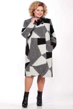 Пальто LaKona 1117 черный с серым