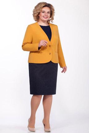 Комплект юбочный БагираАнТа 644 желтый с синим