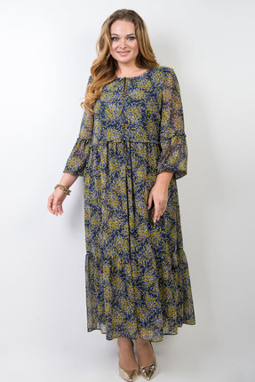 Платье TricoTex Style 20-20 синий с желтым