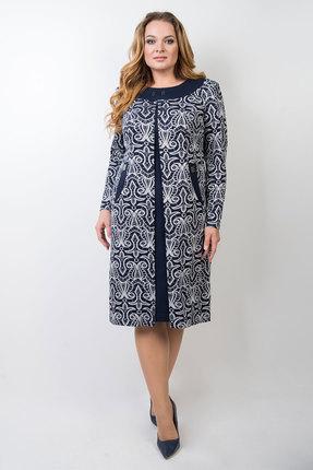 Платье TricoTex Style 105-17 синий с белым
