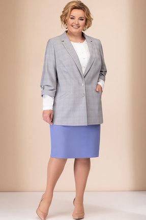 Комплект юбочный Elady 3664 серый с лавандовым