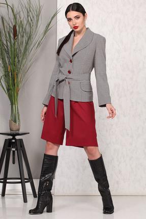 Комплект с шортами B&F 1879 серый с красным