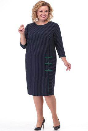 Платье KetisBel 1497 синий с бирюзой