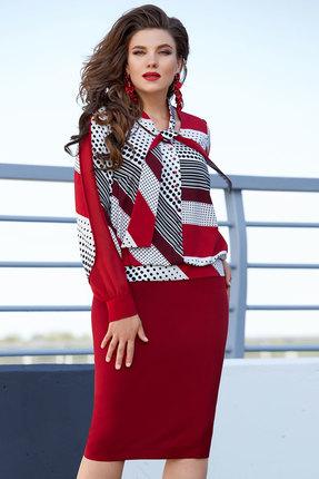 Платье Vittoria Queen 12183 бордовый