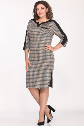 Платье Lady Style Classic 1123/3 серо-бежевый
