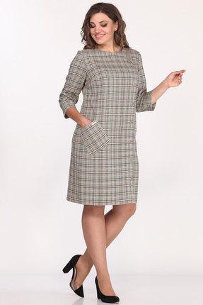 Платье Lady Style Classic 2004/2 серые тона в клетку