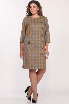 Платье Lady Style Classic 2004/3 горчичный в клетку