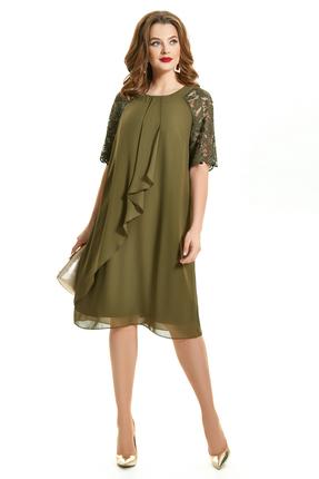 Платье TEZA 1554 хаки