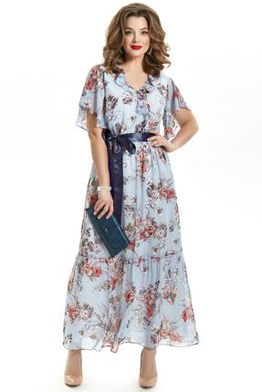 Платье TEZA 1555 голубые тона