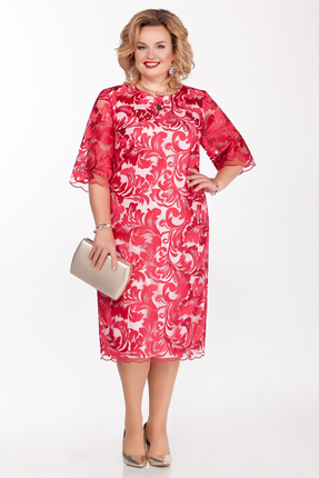 Платье Pretty 1126 красные тона
